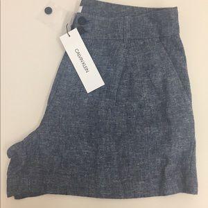 Calvin Klein linen shorts brand new